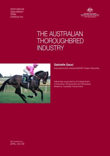 the australian thoroughbred industry - International Specialised ...