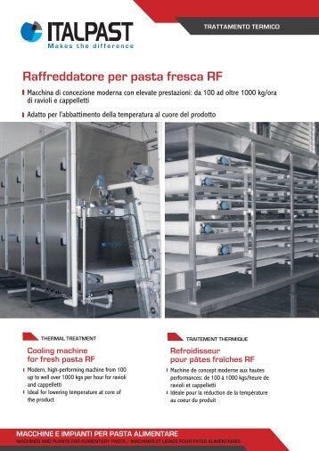 Raffreddatore per pasta fresca e precotta RF - Italpast