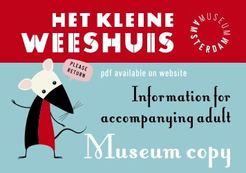 Information for accompanying adult - Amsterdam Museum