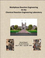 Multiphase Reaction Engineering - CREL - Washington University in ...