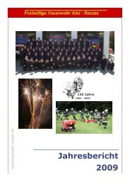 Jahresbericht 2009 als pdf - Freiwillige Feuerwehr Kiel - Russee