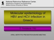 Molecular epidemiology of HBV and HCV infection in Greece