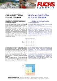 Prospekt Parkleitsystem - Fuchs Technik