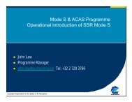 Mode S & ACAS Programme Operational Introduction of SSR Mode S