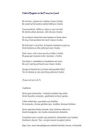 Mevlana Halid'in (ks) Farsça Bir Gazeli