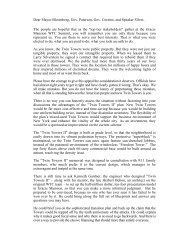 WTC Summit Open Letter - The Twin Towers Alliance