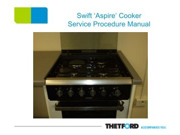 Aspire cooker service procedures - Swift Owners Club