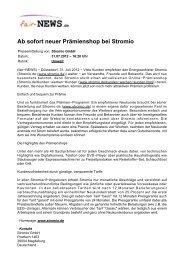 PDF :: fair-NEWS.de :: Ab sofort neuer Prämienshop bei Stromio