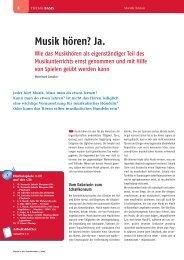 Leseprobe Musik in der Grundschule 2008/01 - Schott Music