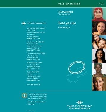 Pete ya uke - the NSW Multicultural Health Communication Service