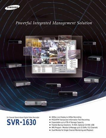 Samsung SVR-1630 120 Digital video recorders - SourceSecurity.com