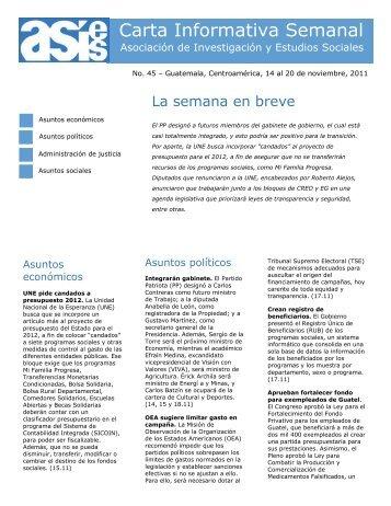 452011 Carta Informativa Semanal No 45.pdf - Asociación de ...