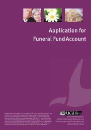 Funeral Fund Application Form - UCA Funds Management