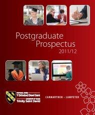 Postgraduate Prospectus - Study in the UK