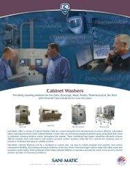 Cabinet Washers - Sani-Matic, Inc.