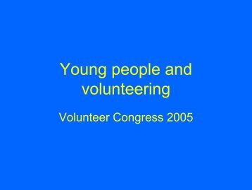 Young people and volunteering - Office for Volunteers - SA.Gov.au