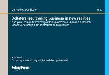 Collateralized trading business in new realities - Roland Berger