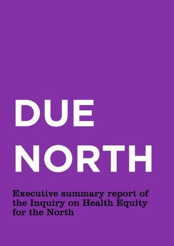 Due-North-Executive-summary-report-of-the-Inquiry-on-Health-Equity-in-the-North