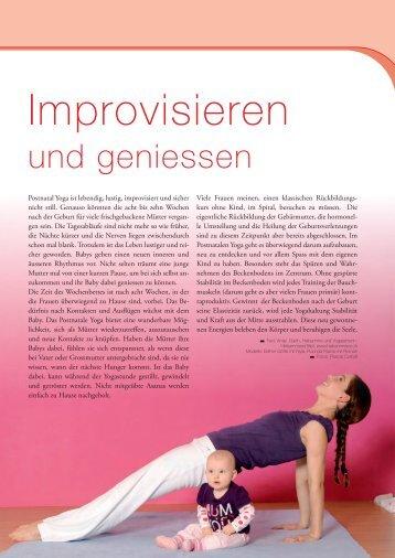 Improvisieren - YOGA! Das Magazin