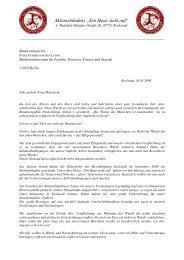 Anschreiben Bundesministerin Frau von der Leyen