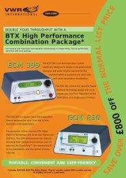 BTX High Performance Combination Package - VWR International