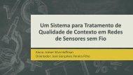 Um Sistema para Tratamento de Qualidade de Contexto em ... - LPRM