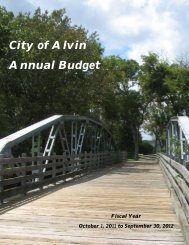 FY 2011-2012 Annual Budget - City of Alvin