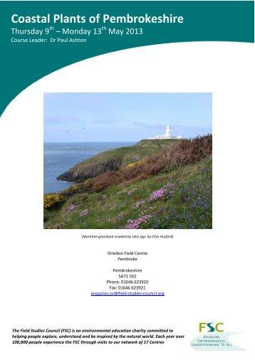 Coastal Plants of Pembrokeshire - Field Studies Council