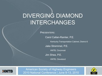 diverging diamond interchanges - Kentucky Transportation Cabinet