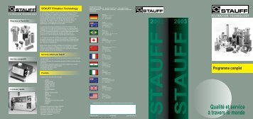 Programme complet - STAUFF