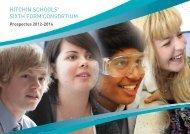 HiTcHin ScHOOLS' SixTH FORM cOnSORTiUM - Hitchin Girls School
