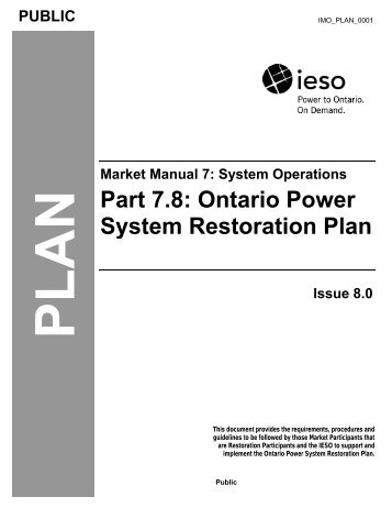 Ontario Power System Restoration Plan - Independent Electricity ...