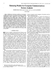 Queueing Models for Computer Communications System Analysis . . .