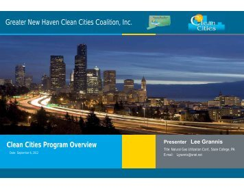 Clean Cities Program Overview - Penn State Marcellus Center for ...