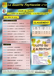 COUPE DE FRANCE La Gazette Feytiacoise n°10 - Footeo