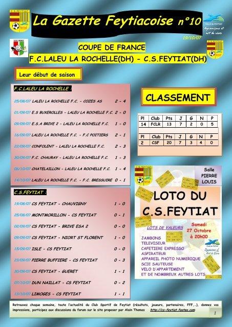 COUPE DE FRANCE La Gazette Feytiacoise n°10 - Footeo