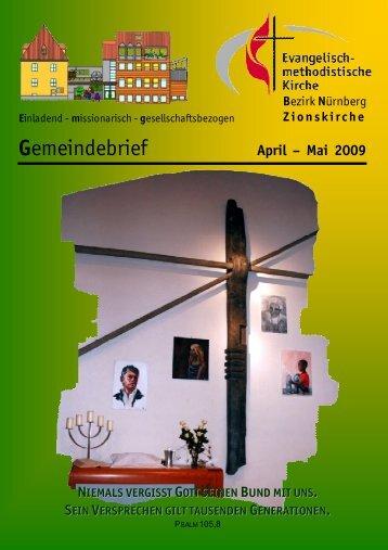 Gemeindebrief Apr-MAI 2009.DOC - Zionsgemeinde