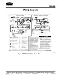38BRB Wiring Diagrams - Carrier