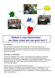 Welkom in onze kleuterschool… - Mater Dei Centrum