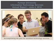2012 ITS Annual Report - Furman University