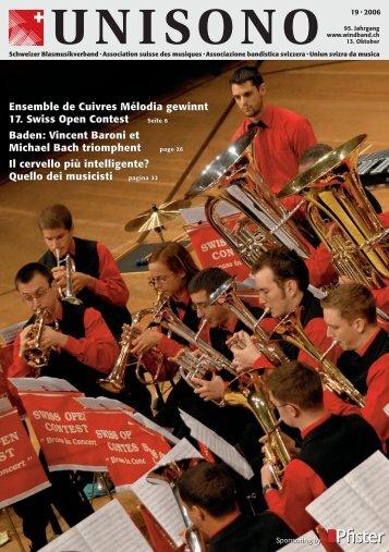Ensemble de Cuivres Mélodia gewinnt 17. Swiss Open Contest ...
