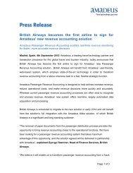 BA Revenue Accounting - Investor relations at Amadeus