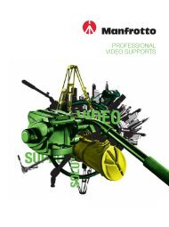 Manfrotto Video Support Brochure - In-motion Limited