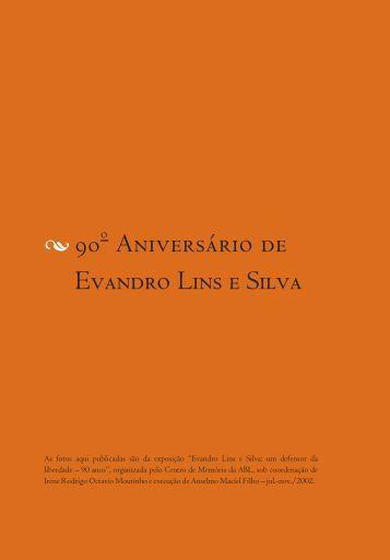 Evandro Lins e Silva - 90 anos - Academia Brasileira de Letras