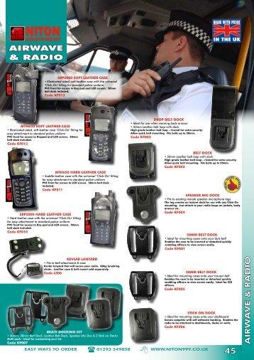 AIRW A VE & RADIO 45 AIRWAVE & RADIO - Niton 999 Equipment