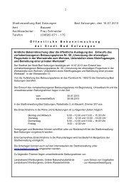 2 Stadtverwaltung Bad Salzungen Bad Salzungen, den 16.07.2013 ...