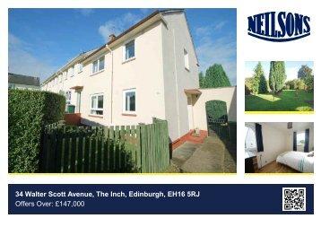 34 Walter Scott Avenue, The Inch, Edinburgh, EH16 5RJ Offers Over ...