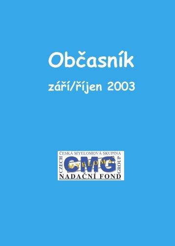 1. číslo - Nadační fond Česká myelomová skupina