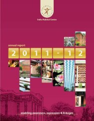 IHC Annual Report 2011-12 (Narrative) - India Habitat Centre