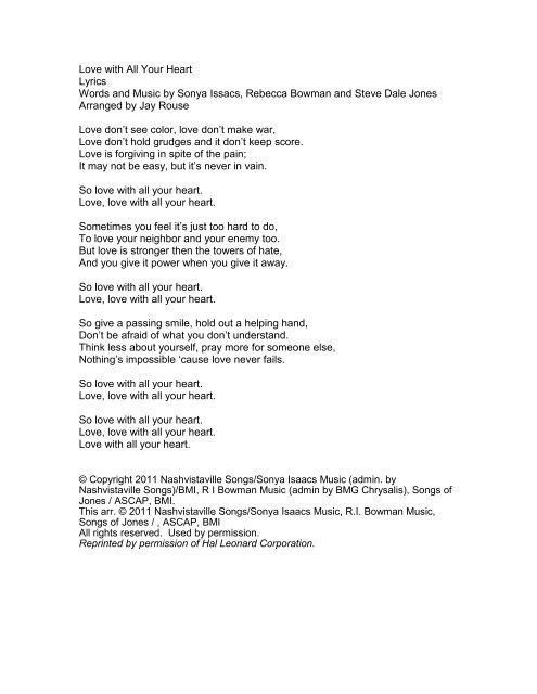 what love is lyrics